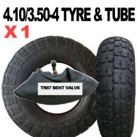 4.10/3.50-4 TYRE & TUBE SET BLOCK TREAD